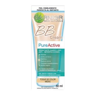 crema-facial-garnier-pure-active-bb-cream-tono-medio-50-ml