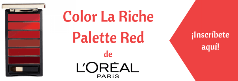 Test de la semana belleza Chile enero 2019 Loreal Palette Red