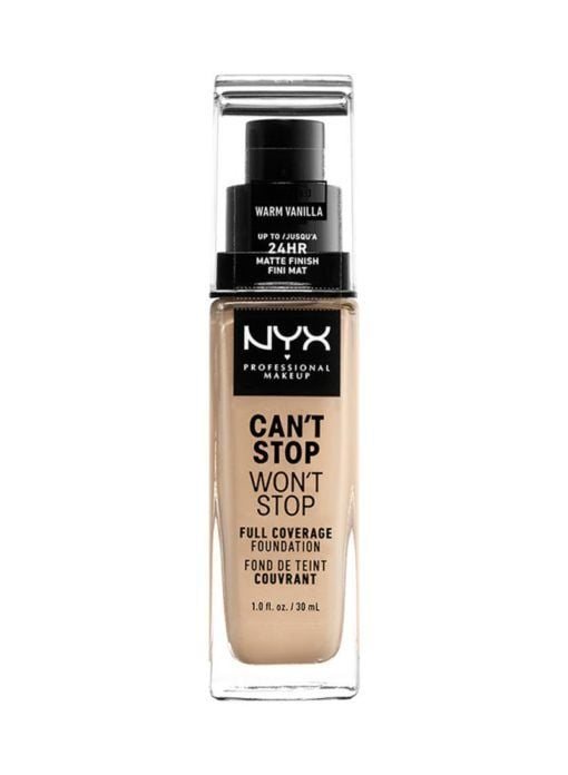Can't Stop Won't Stop Full Coverage Foundation Nyx Cosmetics